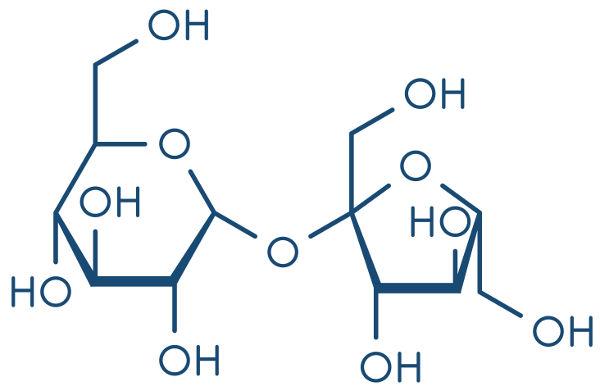 Fórmula estrutural da sacarose