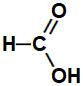 Fórmula estrutural geral de um ácido metanoico