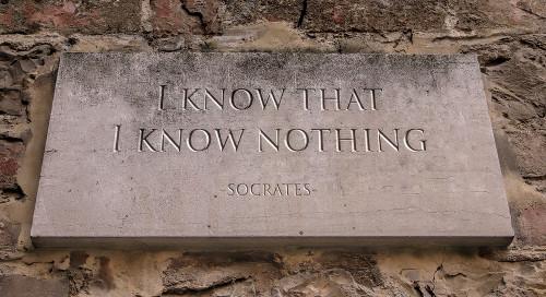 """""""Só sei que nada sei"""" é a frase mais célebre de Sócrates"""