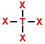 Modelo-padrão de representação de geometria tetraédrica