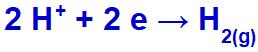 Equação de formação do gás hidrogênio