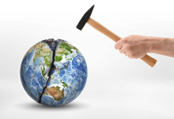 As ações antrópicas têm impactado negativamente o planeta, prejudicando as gerações futuras.