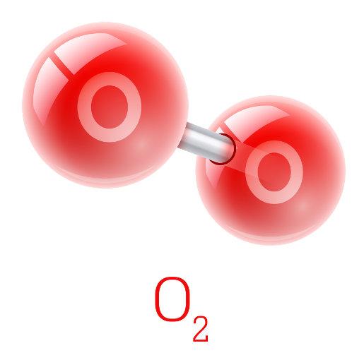 O oxigênio molecular compõe cerca de 21% da atmosfera terrestre.