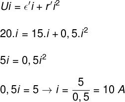 Cálculo da corrente elétrica – exercício 2