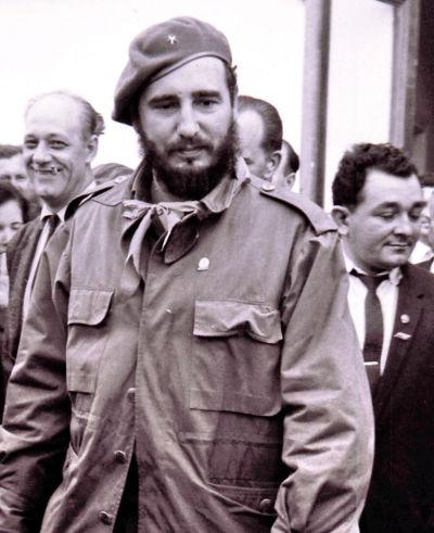 Fidel Castro foi o grande líder da Revolução Cubana e conduziu este processo de 1953 a 1959, tornando-se depois no governante de Cuba.**