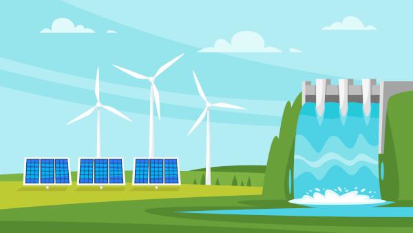 As fontes renováveis de energia são recursos energéticos que se regeneram a curto prazo.