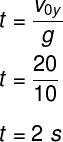 Cálculo do tempo de subida