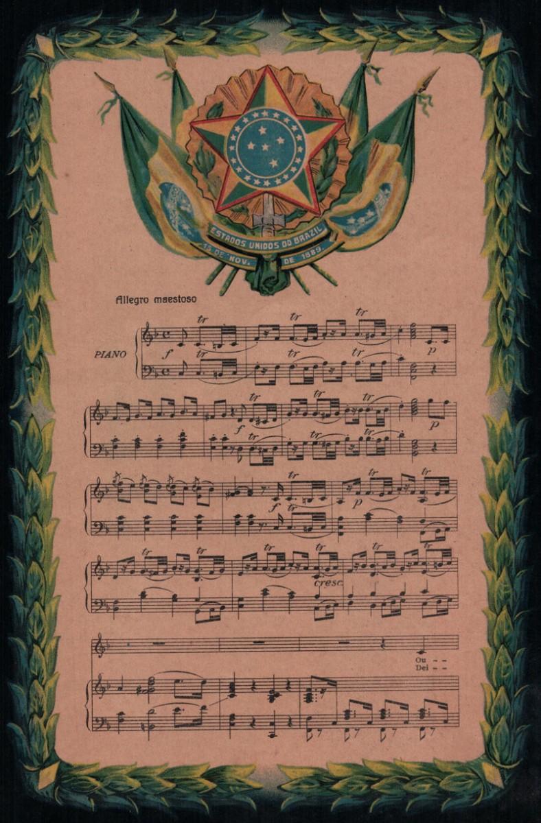 Partitura do Hino Nacional 1922