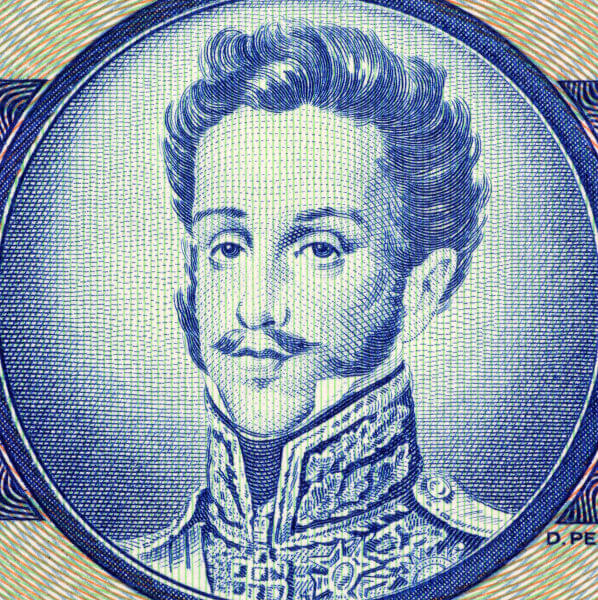 Com a independência do Brasil, D. Pedro foi coroado como imperador do Brasil.***