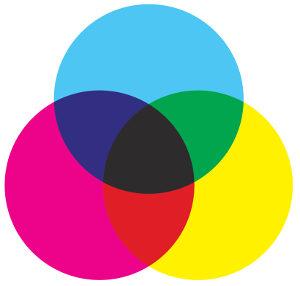 União das cores resulta no tom preto.