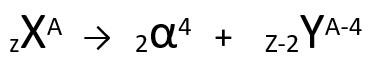 Equação genérica da primeira lei da radioatividade.
