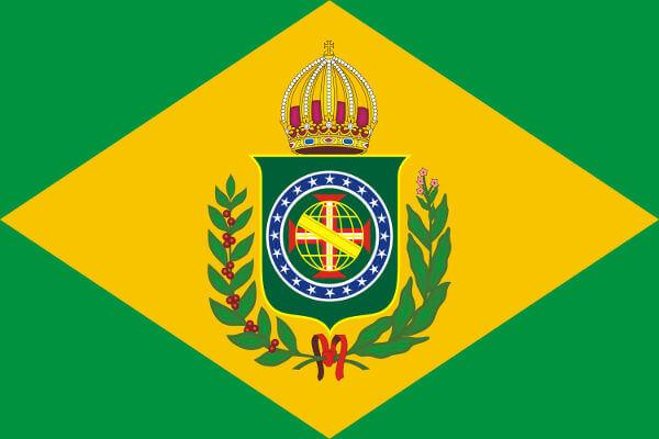 A Bandeira Nacional do período imperial foi implantada dias após a independência do Brasil.
