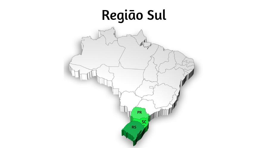 A Região Sul é a que apresenta características mais diversas em relação às outras regiões brasileiras.
