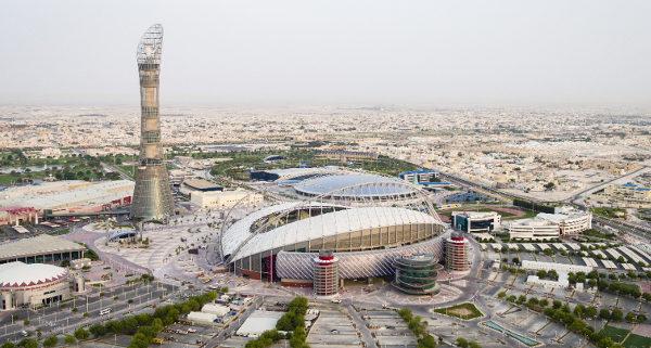 Estádio Khalifa: único que foi reformado para a Copa do Catar. (Crédito: Divulgação)