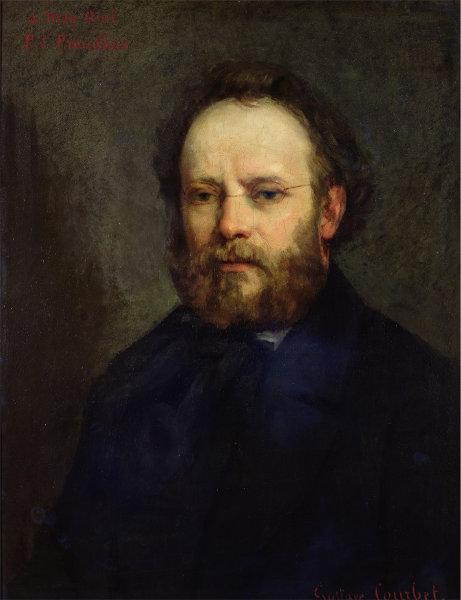 Retrato de Pierre-Joseph Proudhon pintado por Gustave Courbet.