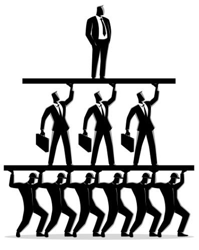 As pirâmides sociais representam a divisão de classes.