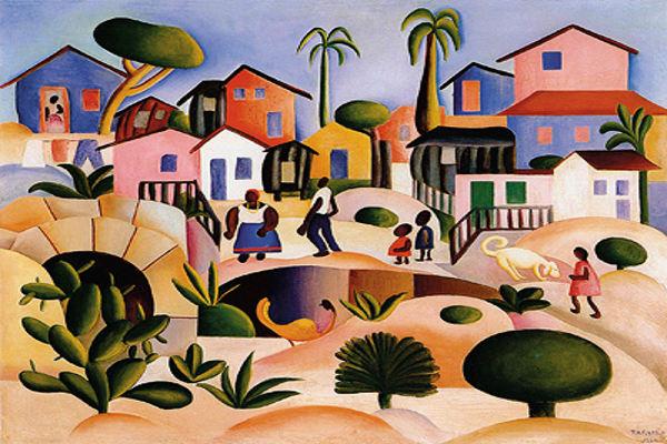 Tarsila do Amaral, Morro da favela, 1924.