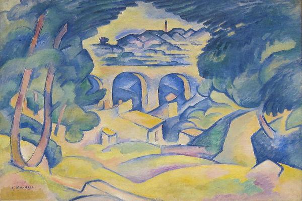 Georges Braque, O viaduto de L'Estaque, 1907.