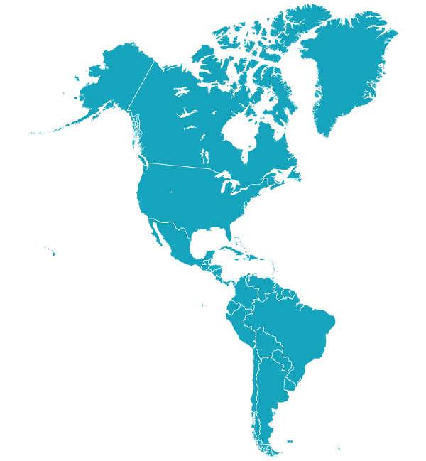 A América é o maior continente em área norte–sul.