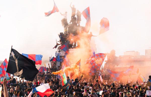 Protestos em Santiago