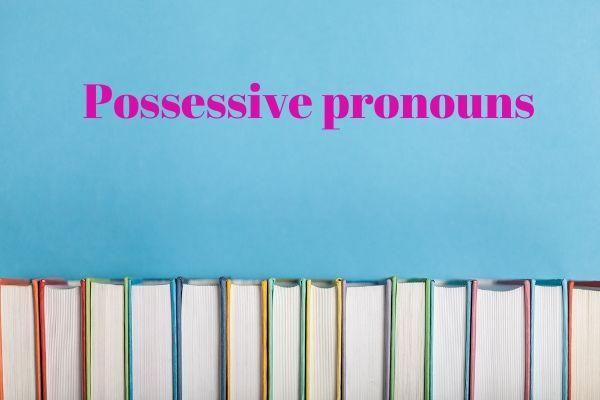 Os pronomes possessivos indicam posse e propriedade e podem substituir substantivos e frases nominais.